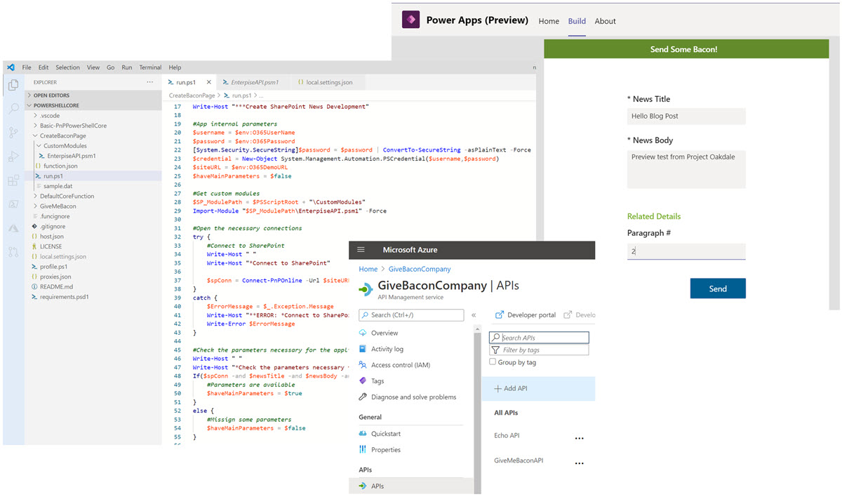 Project Oakdale and Azure API Management